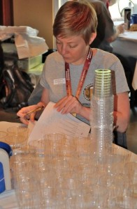 H.O.P.S Chair Sara Bondioli prepares for a judging session