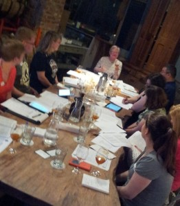 Participants learn how to gauge aroma