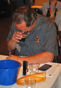DC Homebrewers President  Bob Rouse judges a beer